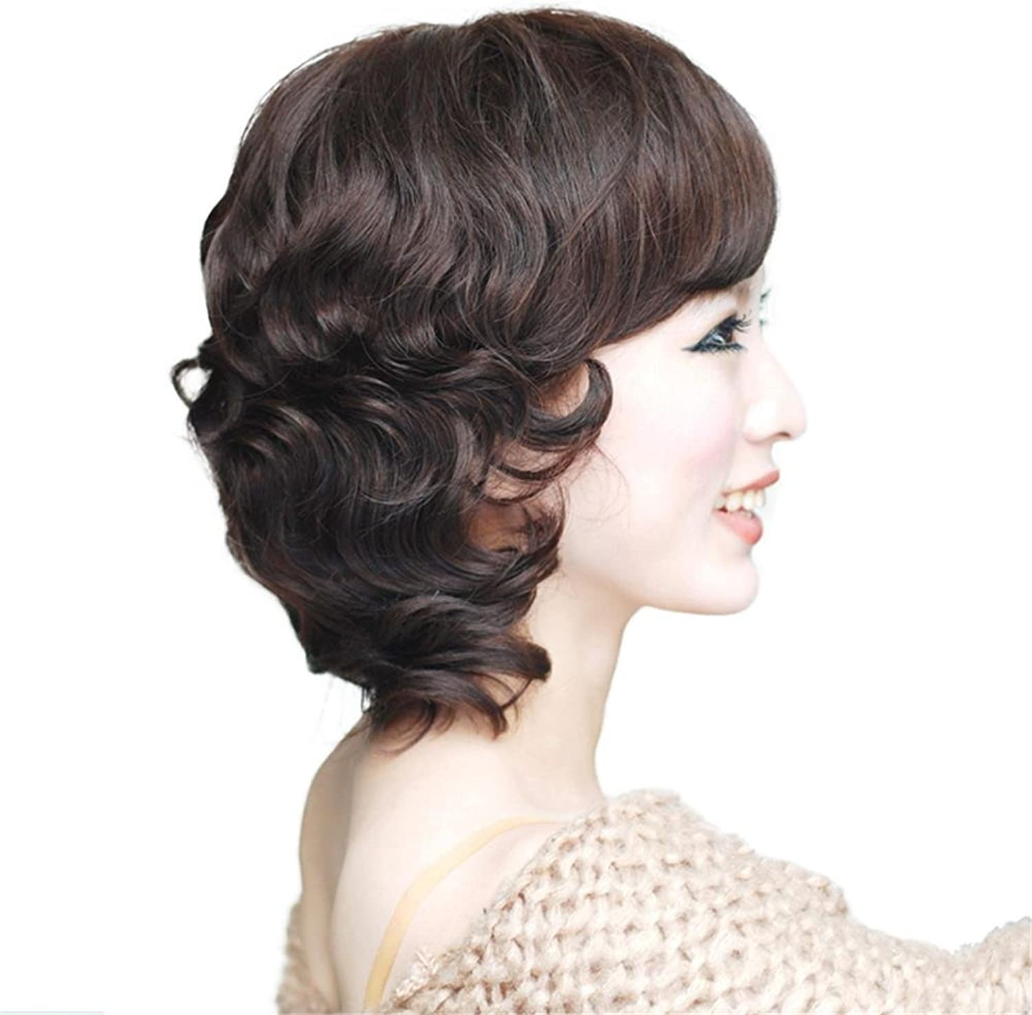 JIA1 Really wigs fluffy short curls real hair sets of hand wigs