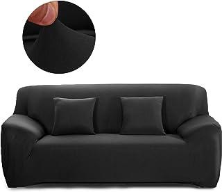 comprar comparacion Cornasee Funda de sofá Elastica 3 plazas,Cubierta para sofá con Cuerda de fijación,Negro