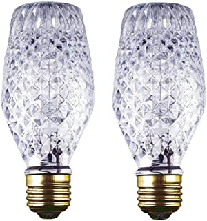 Ciata Lighting 43 Watt SL19 Halogen Cut Glass Light Bulb with Medium Base (2 Pack)