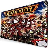 Alfombrilla de ratón de Hello Kitty para juego de extensión, almohadilla de teclado de anime, almohadilla de escritorio, almohadilla de ordenador para gato juego 6 (90 x 40 cm)