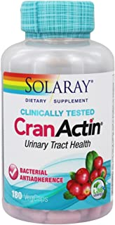 Solaray Cranactin Cranberry AF Extract Capsules, 400 mg, 180 Count