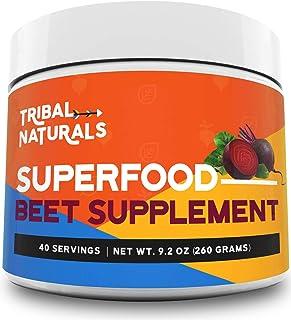 Tribal Naturals Superfood Pre Workout Powder - 9.2oz Beet Powder Nitric Oxide Booster - Super Beets Pre Workout Supplement...