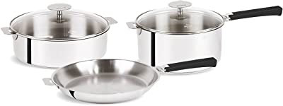 Cristel Mutine Stainless Steel 7 Piece Cookware Set