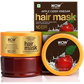 WOW Skin Science Apple Cider Vinegar Hair Mask with Apple Cider Vinegar & Sweet Almond Oil, 200mL