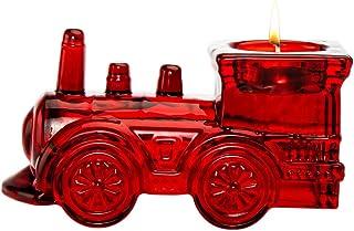 Sponsored Ad - Godinger Votive Candle Holder Holiday Crystal Train Engine - Red