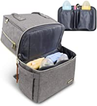 Vogshow Diaper Bag Backpack, Double Deck Waterproof Maternity Backpack Baby Bag