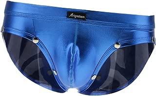 Prettyia Men's Shiny Metallic Wet Look Briefs Underwear Low-waist Pouch Underpant Swimwear