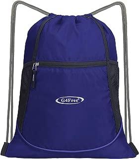 G4Free Drawstring Backpack Drawstring Bag with Pocket Cinch Sack String Backpack