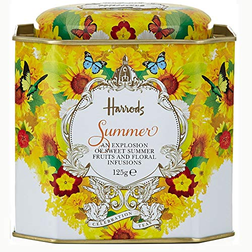 Harrods Summer Celebration 125g Loose Tea in a Tin Caddy (1 Pack) Usa Stock