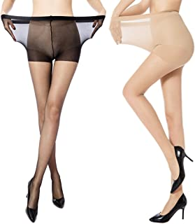 9178a7bad61 MANZI Women s 2 Pairs Plus Size Control Top Ultra-Soft Tights
