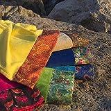 FANCY HOME Toalla de playa Samui – Beige, 90 x 170