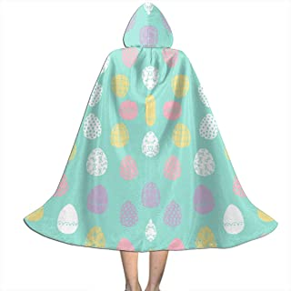 Easter Eggs Spring Pastels Fabric Spring Fairy Kei Kids Hooded Cloak Cape for Christmas Halloween Cosplay Costumes