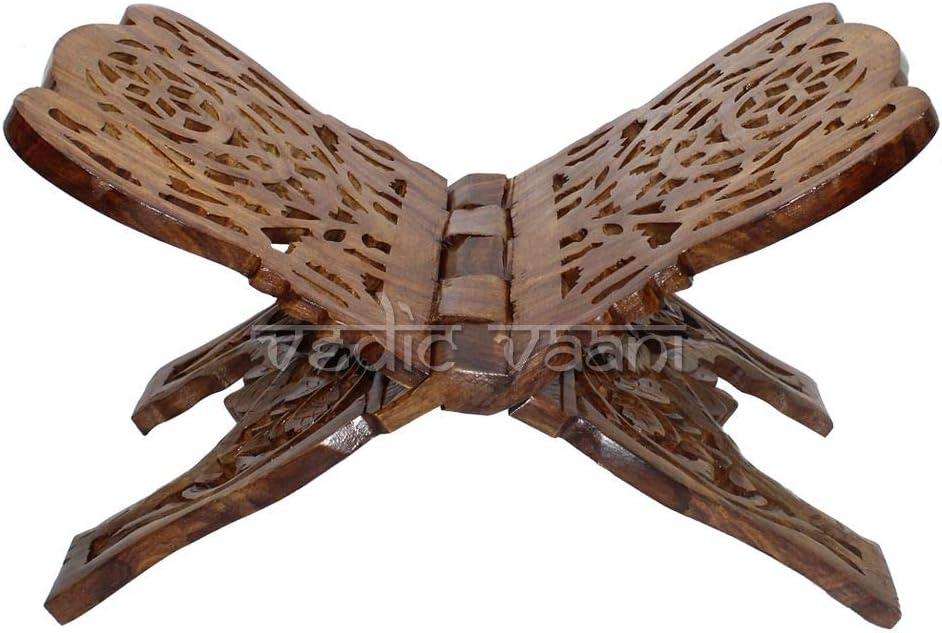 Vedic Vaani It is very popular Sheesham depot Wood Hand Designer Rehal Wooden Carved Rea