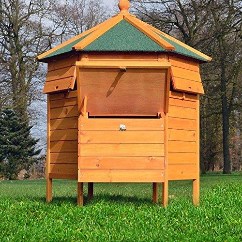 """ZooPrimus Hühner-Stall Nr 28 Geflügel-Voliere """"HÜHNER-PAVILLON"""" Enten-Haus für Außenbereich (Geeignet für Kleintiere: Hühner, Geflügel, Vögel, Enten usw.) - 6"""