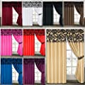 Damask Pair Of Curtains Half Flock Pencil Pleat Window Curtain Fusion(TM)