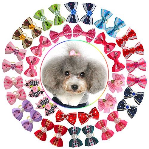 YOY 40pcs/20 Pairs Pet Dog Hair Bows