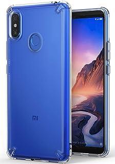 Xiaomi Mi Max 3 ケース 対応 Ringke [Fusion] 透明 落下防止 ストラップホール スマホケース【米軍MIL規格取得】TPU PC 二重構造 吸収耐衝撃カバー [Qi 充電 対応] (Clear/クリア)
