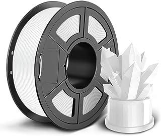 SUNLU PLA 3Dプリンター用フィラメント、1kg 1.75mm PLAフィラメント、精度 +/- 0.02mm、3Dプリンター3Dペン用(白/ホワイト)