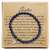 Gifts for Sister Bracelets for Women Birthday Christmas – Bead Bracelet with Message Card & Gift Box - Sister Gifts from Sister