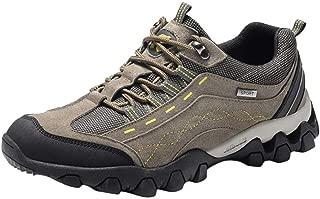 〓COOlCC〓Men Mid Heel Waterproof Hiking Boot,Snow Boots Winter Anti-Slip Ankle Booties Walking Shoes Sneakers Outdoor