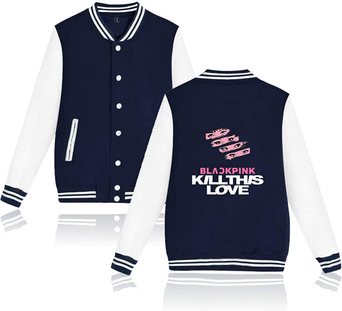 Forever Younger Kpop Blackpink Bedruckte Baseballmäntel Jacken Mäntel Outwear Langarm Hoodie Sweatshirt Lisa Rose Jennie JISOO 3