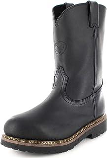 SOUL REBEL American Boots - Work Boots BO-4384-638-EEE (Strong Foot) - Men - Black
