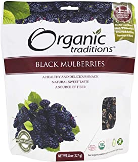 Organic Traditions Dried Black Mulberries Gluten Free - 8 oz