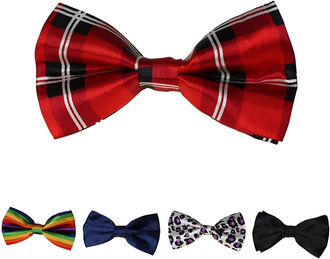 Dan Smith Men's Fashion Multi Satin Evening Pre-Tied Bow Ties - 5 Styles Available With Box