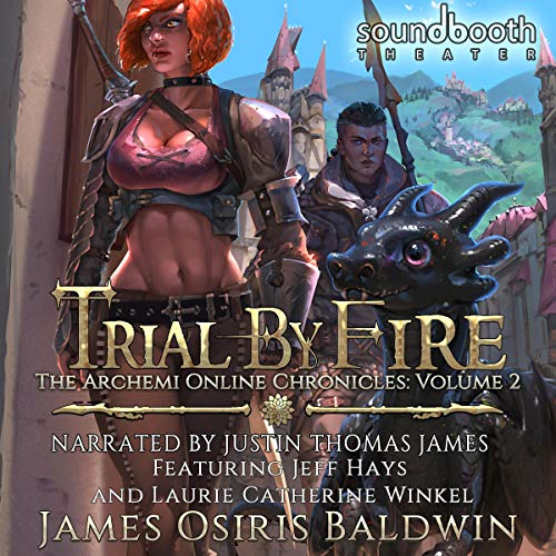 Trial by Fire: A LitRPG Dragonrider Adventure audiobook cover art