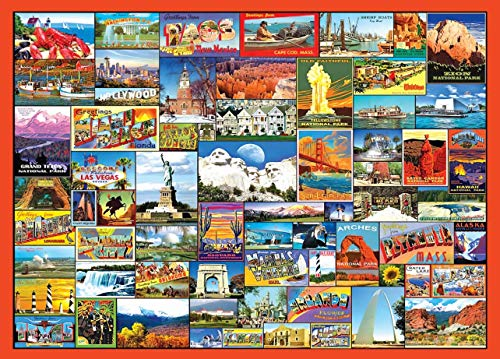 ANZOME Best Locations in The U.S. Puzzle -1000 Piece Jigsaw Puzzle for Kids Adults, Puzzle Game Artwork for Adults