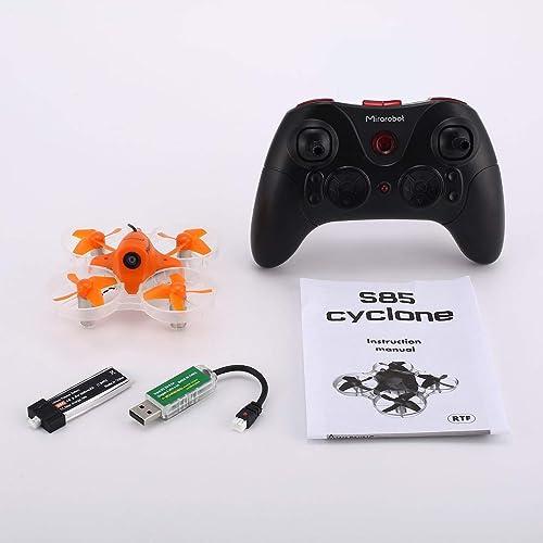 JohnJohnsen Drone quadricoptère RC FPV Racing Mini Micro Haute Vitesse 5.8G 5.8G de Mirarobot avec caméra 5mW 600TVL 3 6 Axes en Temps réel (Noir)