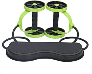 ZOUJUN Abdominal Wheel,Multifunctional AB Roller No Noise Exercise Equipment Easy To Use Abdominal Machine Strengthen Musc...