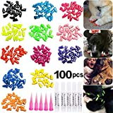 JOYJULY 100pcs Dog Nail Caps Soft Claws...