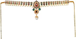 Handicraft Kottage® Gold Plated Pearl with Multi Color Stone Belly Chain for Women (HK_Multi Belly Chain-02)