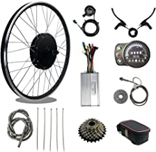 Electric bike conversion kit, 48V 1500W brushless gearless wheel rear motor, ebike kit with 20-inch wheels, 35A controller...