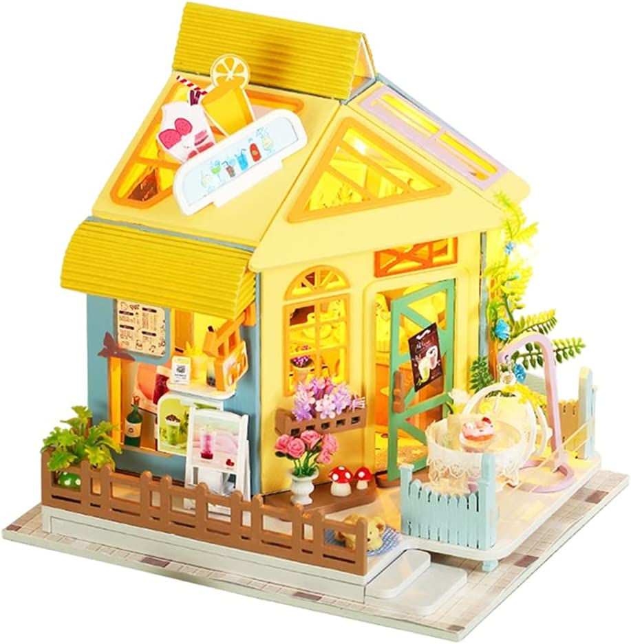 N\C Wood Miniature Doll House Adorable Online limited product Snack Tea Denver Mall Afternoon