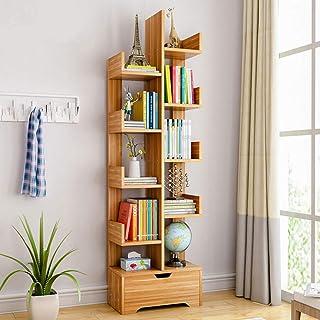 Bookshelf,U-HOOME White Modern Bookcase Freestanding Book shelf Tree-Shaped Storage Organizer Display Rack Holder Units fo...