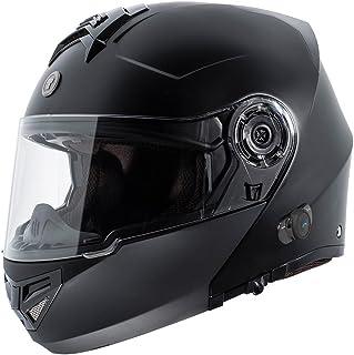 TORC T27 Full Face Modular Helmet with Integrated Blinc Bluetooth (Flat Black, X-Large)