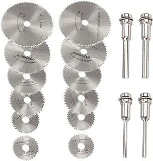 16 Pcs HSS Rotary Tool Circular Saw Blades Cutting Discs Mandrel for Dremel Cutoff with Connecting Rod
