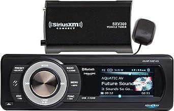 """$525 » Aquatic AV AQ-MP-5UBT-HS SiriusXM Harley-Davidson Waterproof Stereo, 3"""" Color Screen with Album Artwork Display, Built-in 288W Amplifier, Connect Up to 8 Speakers, Waterproof (IP55) (Renewed)"""