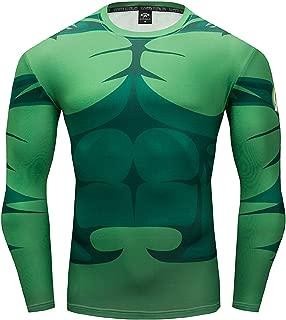 Hulk Shirt Men's Long Sleeve Shirt Outdoor Sports 3D Print Compression Shirt