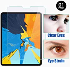 PERFECTSIGHT Screen Protector Compatible with iPad Pro 11 Inch (2018 Model) [55% Anti Glare] Blue Light Filter 9H Anti Fingerprint Tempered Glass [1 Pack]