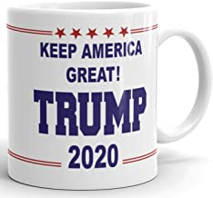 Make America Great Again - Donald Trump 2020 Prank Gift Mug - Novelty Ceramic Coffee Mug - Funny Gifts for Him and Her - Gag Birthday Present Idea From Wife, Daughter, Son - 11 Fl. Oz White