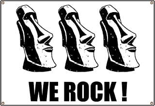CafePress Easter Island: We Rock Vinyl Banner, 44