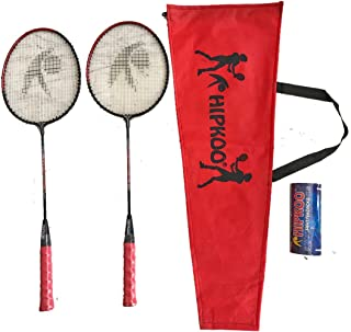 Hipkoo Cherry (2 Rackets & 3 Shuttlecocks) Badminton Kit
