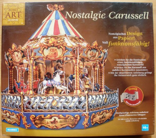 Nostalgie Carussell aus der Serie Built Art Collection Design aus Papier, voll funktionsfähig