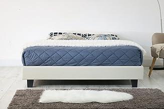 Istyle Divan King Bed Frame Base Ensemble Fabric Beige