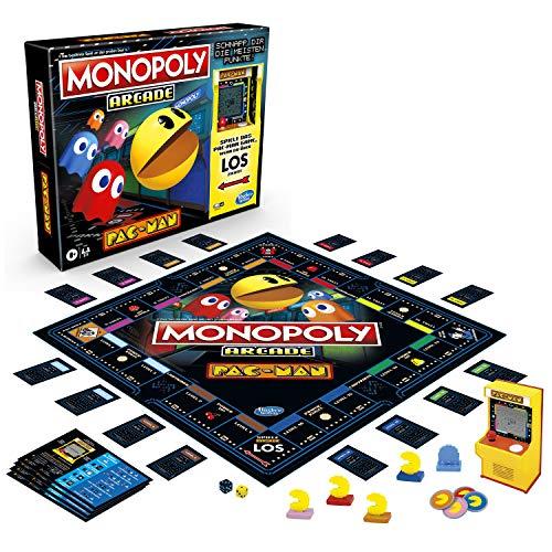 Hasbro Gaming Monopoly Arcade Pac-Man, Monopoly Brettspiel für Kinder ab 8 Jahren, inklusive Bank- und Arcade-Automat