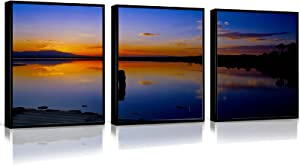 WALL DECOR FRAMED ART 3 Pieces Set Oil Paintings On Canvas Wall Art Multiple Pieces Wall Decor Taipei Canvas Art Taipei Wall Decor Canvas 16X24 In Modern Canvas Wall Hangings