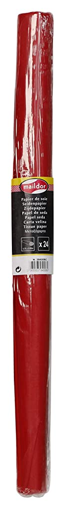 Clairefontaine Maildor Tissue Paper Roll, 18 g, 50 x 75 cm, 24 Sheets - Red